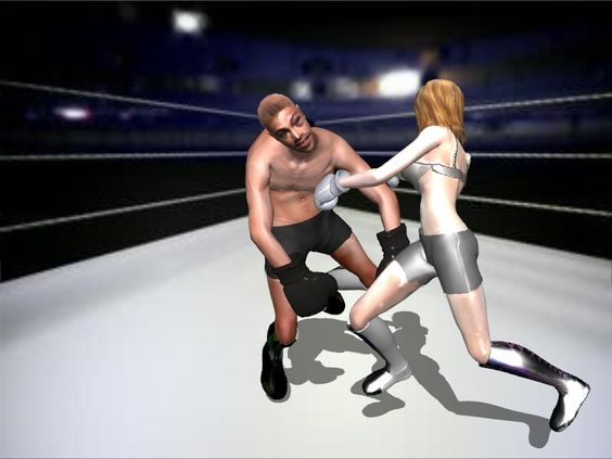 Intergender Boxing 03 by andypedro on DeviantArt