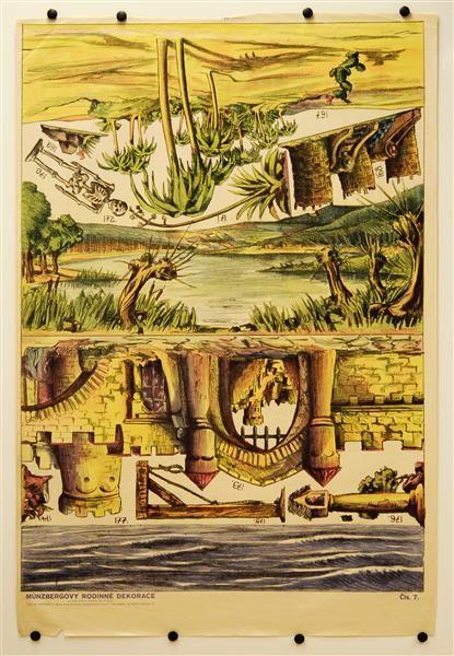 Cis. 7 [Bogen 7, Teich-, Meer-, Burg-, Oasen-Dekorationen]. Münzergovy rodinneé Dekorace pro loutky 18-25 cm [Münzberg`s Familien-Dekorationen für Puppen 18-25 cm]