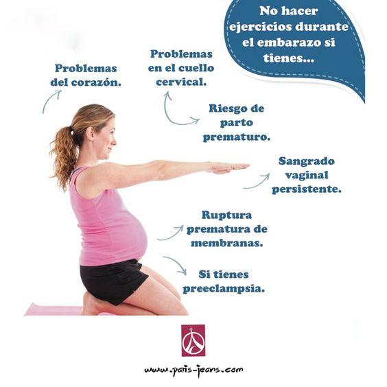 Si estas embarazada toma en cuenta lo siguiente antes de comenzar a hacer ejercicio.  http://www.paris-jeans.com