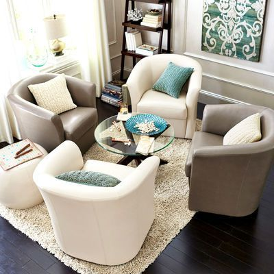 Smaller Conference Room Set Up 4 Swivel Chairs With Very Small Coffee Table Swivelchair Swivel Chair Living Room White Dining Chairs Living Room Chairs Swivel chairs living room furniture