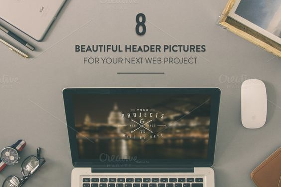 8 Hero images for website by Madebyvadim on Creative Market