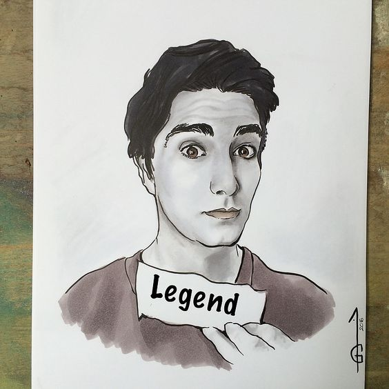Brandon Routh as Ray Palmer aka The ATOM  Artworks inspired by the TV Show, LEGENDS OF TOMORROW Made with graphite, coloured pencils, pastels, markers, watercolor.