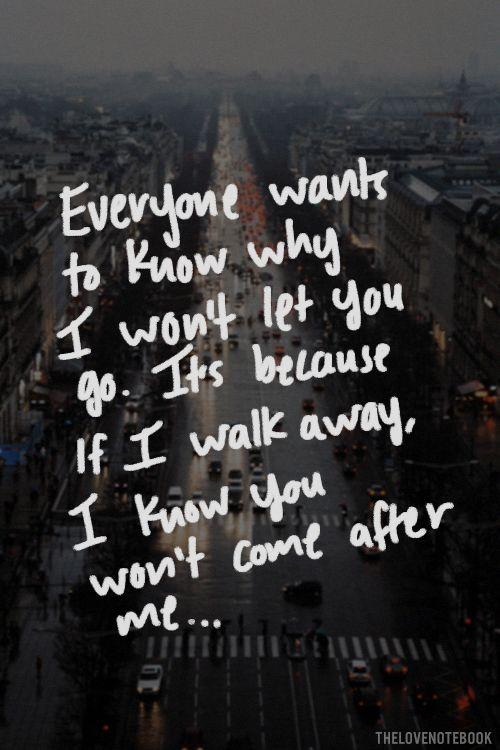 Risultati immagini per won't let you go