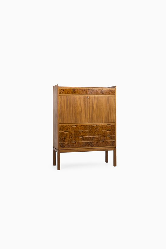 Teak secretaire in the manner of Carl-Axel Acking at Studio Schalling