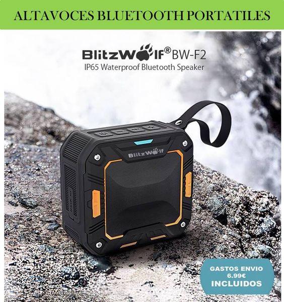 Altavoces portatiles bluetooth inalambricos para móviles, Smartphone, tablets y ordenador PC. ¡Altavoces impermeables y resistentes al agua!