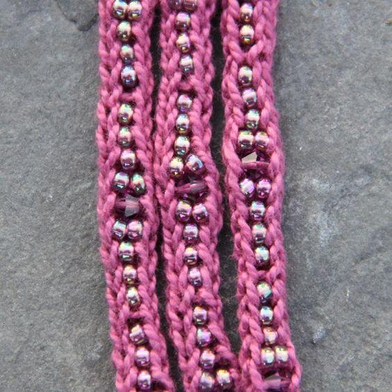 NobleKnits Yarn Shop  - Nelkin Designs Mudra Cotton Cuff Bracelet - Knit Jewelry Kit, $19.79 (http://www.nobleknits.com/nelkin-designs-mudra-cotton-cuff-bracelet-knit-jewelry-kit/)