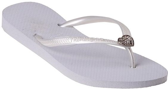 Havaianas Slim Crystal Heart White on shopstyle.com