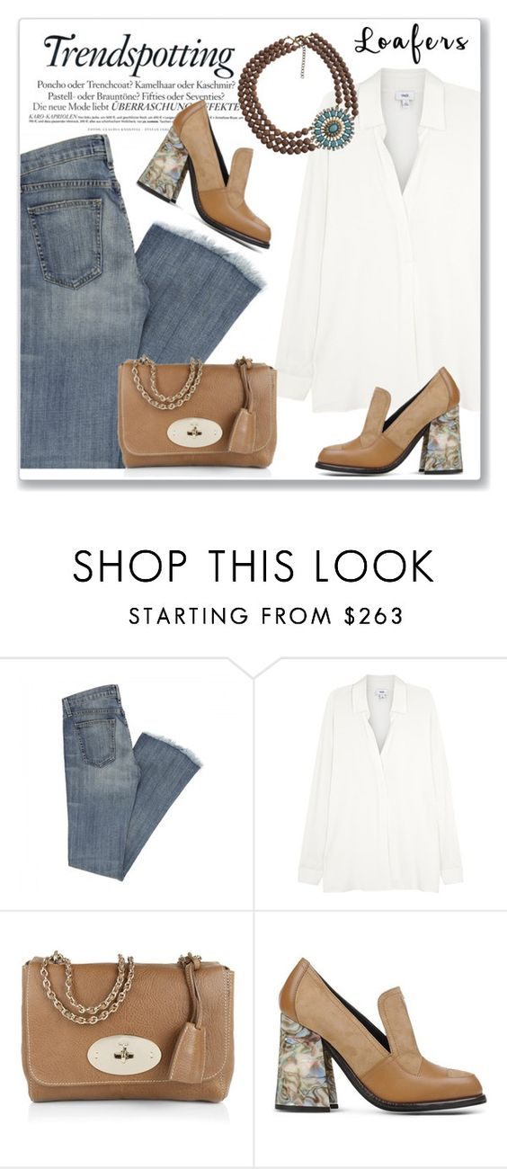 """""""Fall Footwear Trend: Loafers"""" by andrejae ❤ liked on Polyvore featuring Mulberry, Melissa, J.W. Anderson and loafers"""