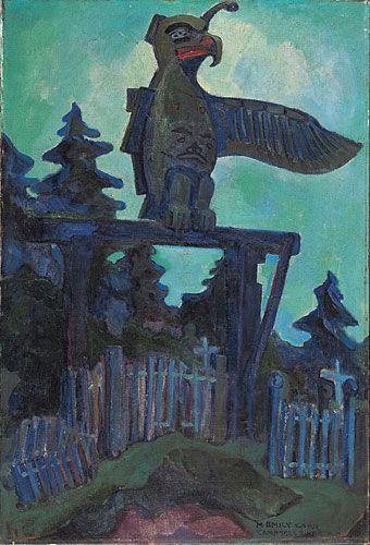 Graveyard Entrance, Campbell River, 1912, huile sur toile - Emily carr
