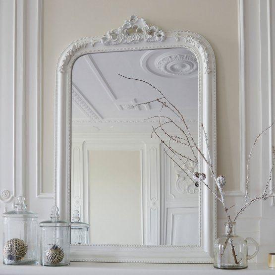 miroir aubais blanc vieilli miroir