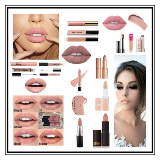 """""""The Perfect Nude lip Awaits You"""" by skylardaniels ❤ liked on Polyvore featuring beauty, Charlotte Tilbury, Bobbi Brown Cosmetics, Rimmel, Lipstick Queen, Burberry, NYX, Nevermind, Fresh and Jeffree Star"""