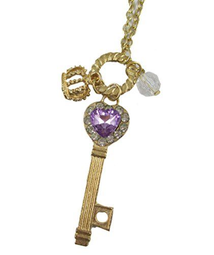 Beone Romantic Purple Girls Heart Love Rhinestone Crytal Silver Key Pendant Crown Long Chain Necklace BeOne http://www.amazon.com/dp/B00V4INLQC/ref=cm_sw_r_pi_dp_pBEpvb1BK84A5