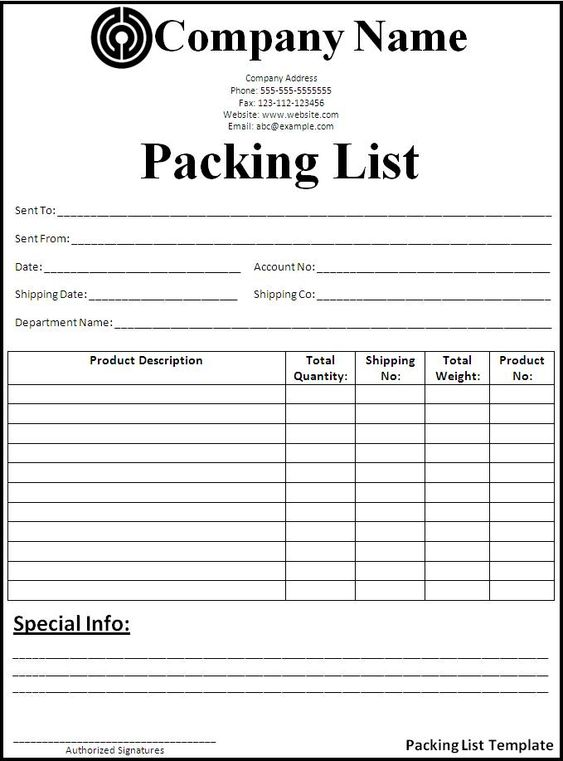 Sample Packing List Template When Computers Sing, Money Talks - phone number list template