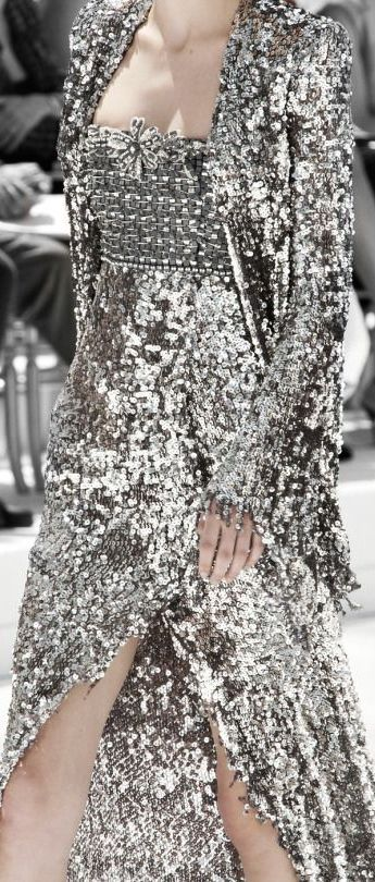 Sequined gown by #Chanel. #hautecouture
