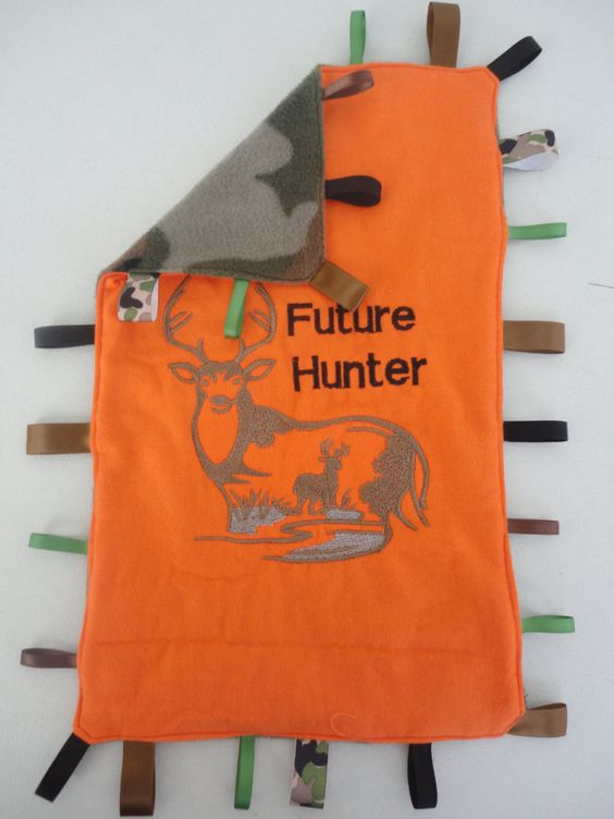 Future Deer Hunter Camoflauge Bedding - 14x14 Tag Blanket - Lovey - Infant Soother - Camo Baby Blanket - Newborn Time Time Mat. $17.00, via Etsy.