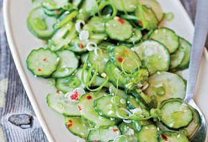 Sesame-cucmber salad