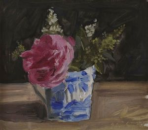 Montrouge rose in an English cup (2) - (Yiannis Tsaroychis)