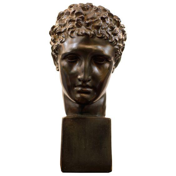 Head of Hermes in Plaster