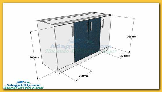 Como hacer muebles de cocina plano mueble bajo mesada de for Planos para muebles de cocina gratis