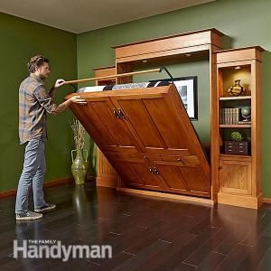 Murphy Bed Bookcase The Family Handyman Editor And Patterns