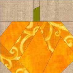 Patchwork en Casa - Patchwork with Love: Bloque de la Semana: Calabaza en Paper Piecing