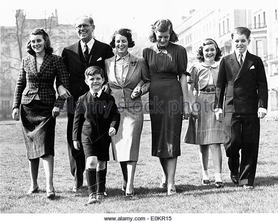 The Kennedy family at their home at Princess Gate - Stock Image