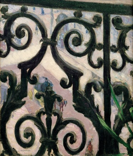 Gustave Caillebotte View Through A Balcony Grille 1880 Van Gogh