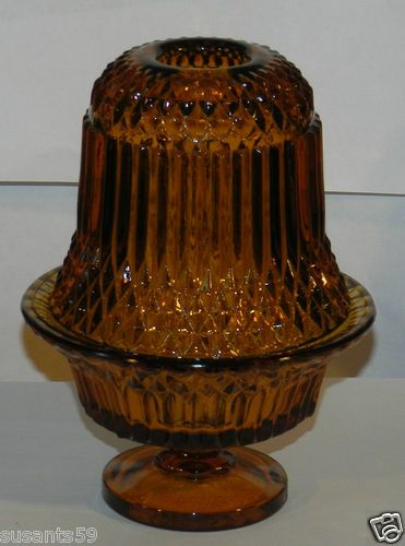 Vintage Tri-Mold Two Piece Fairy Lamp. Amber Color. $9.99 OBO + 7.50 Shipping