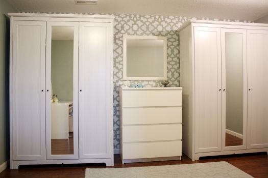 His and hers armoire ikea wardrobes for Armoire dressing en solde