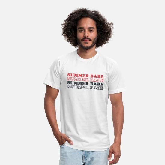 Summer Babe Crewneck Sweatshirt Summer Sweatshirt Unisex Jersey T Shirt Spreadshirt T Shirt Long Sleeve Shirt Men Shirts