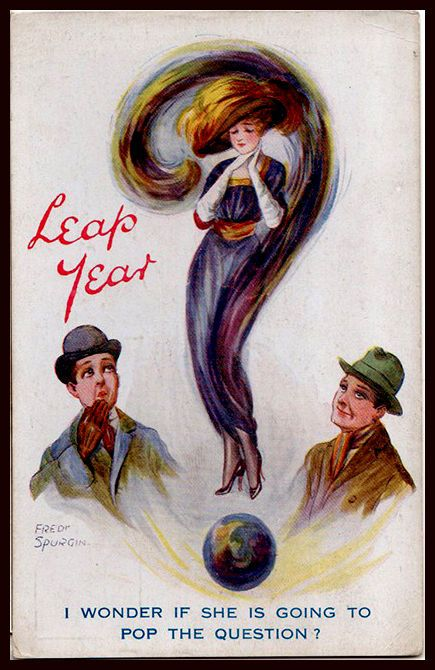 1918 Spurgin Political Glamour Mutoscope Fashion Harem Leap Year Beauty Question: