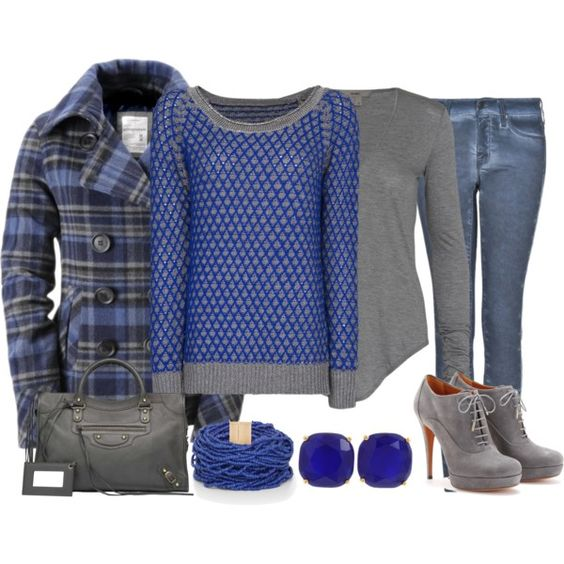 Gray and Blue - Polyvore