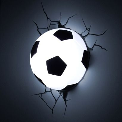 I would take this battery operated soccer ball 3d deco light nightlight and use it instead for centerpieces at a soccer sports banquet. How cool would that be??