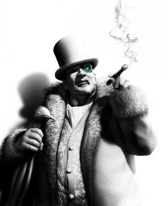 Penguin | Batman Arkham City. Probably the most beautiful video game creation I've ever seen. Hands down. No game has beat it yet.