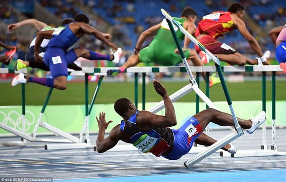 There was a spectacular fall for Haiti's Jeffery Julmis in the semi-finals of…