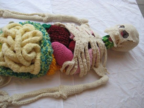 Stunning crocheted skeleton with insides