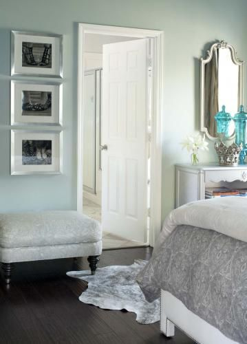Turquoise bedrooms utah and colors on pinterest - Light grey paint color for bedroom ...