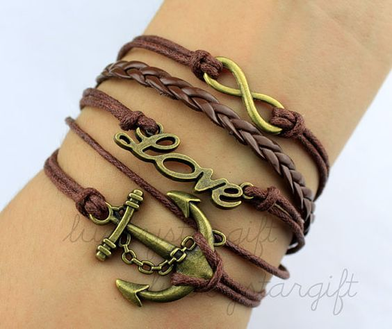 Copper and cool anchor infinite love infinite & by luckystargift, $5.69