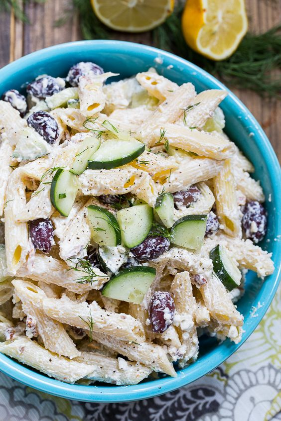 Tzatziki Pasta Salad is a great salad for the summer and is perfect ...