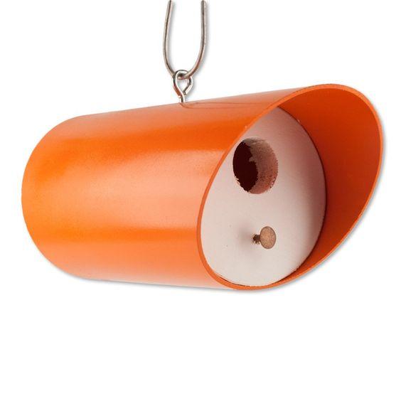 AmazonSmile : Retro Orange Bungalow Bird House : Patio, Lawn & Garden