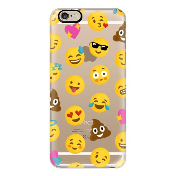 iPhone 6 Plus/6/5/5s/5c Case - Emoji Love Transparent Case - Nour... (£26) ❤ liked on Polyvore featuring accessories, tech accessories, phone cases, case, phones, tech, iphone case, iphone 5 cover case, iphone cases and apple iphone 6 case