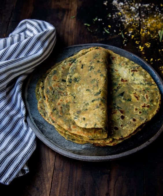 Potato-Fenugreek Parathas