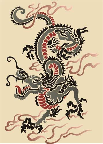chinese dragon  images   Chinese Dragon Oriental Stencil Designs from Stencil Kingdom