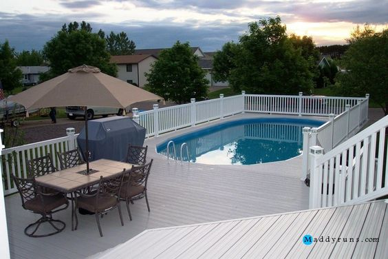 Swimming pool pool decks brilliant swimming pool ladders for Above ground pool decks and ladders