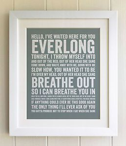 foo fighters everlong framed - Google Search