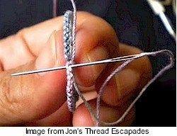 Tatting tutorial: How to hide those ends | Needlework News | CraftGossip.com