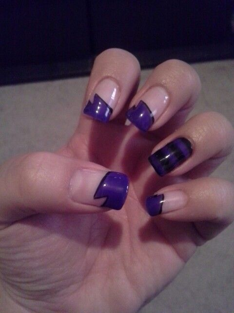 We were calling these my superhero nails! Fun with purple!