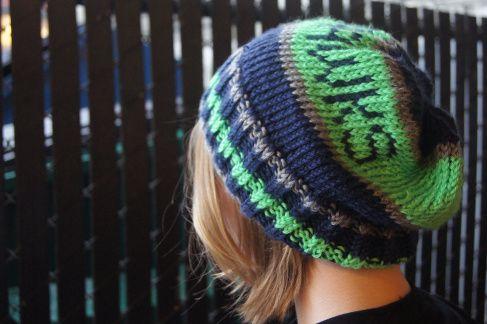 Seattle Seahawks knitted cap pattern