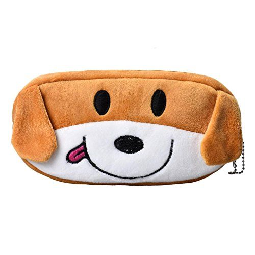 Cute Cartoon Pencil Case Plush Large Pen Bag For Kids Back To School Stationery