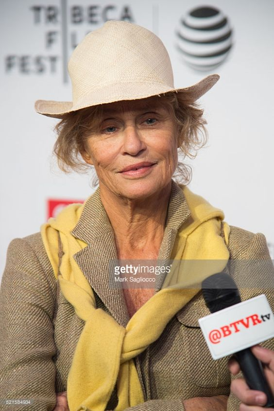 Model Lauren Hutton attends the Tribeca Talks After the Movie: 'Jeremiah Tower: The Last Magnificent' - 2016 Tribeca Film Festival at John Zuccotti Theater at BMCC Tribeca Performing Arts Center on April 16, 2016 in New York City.